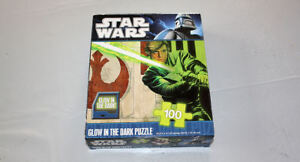 Star Wars LUKE SKYWALKER Glow In The Dark Jigsaw Puzzle 100 Pieces used 2010
