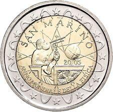 San Marino 2 Euro 2005 Jahr der Physik Gedenkmünze Galileo Galilei im Folder