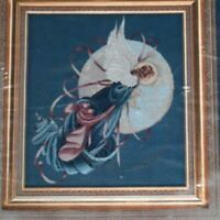 Lavender and Lace Blue Moon Angel Cross Stitch Pattern vintage still sealed NOS