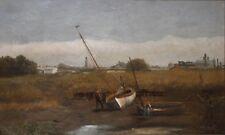 JAMES THORPE FLAHERTY- PA Realist-Original Signed Oil Painting-Sailboat/Sailors