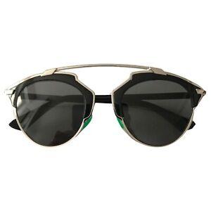 Christian Dior So Real Black Sunglasses, Green nose pieces