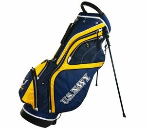 """Hot Z Golf U.S. Military Stand Bag (Navy, Blue/Yellow, 9.5"""" 14-way top) NEW"""