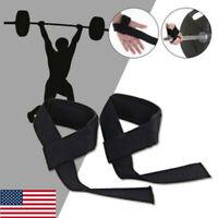 Weight Lifting Wrist Straps Gym Power Training Strong Grip Premium Quality 2 Pcs