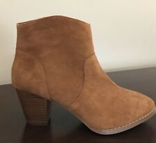 New Urban Outfitters Ankle Boots Sz 9 Women's Brown Suede Booties OU $125 L20