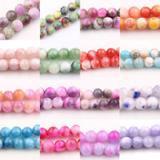 New Glass Persia Jade Round 18 Colors  Loose Spacer Beads Charms DIY 6/8/10MM