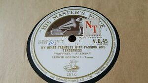 LEONID SOBINOFF MY HEART TREMBLES WITH PASSION AND TENDERNESS HMV VB45
