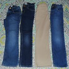 Girls 6X/7 Lot of 4 Pairs Skinny Slim Fit Jeans Childrens Place Gap