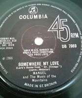 "Manuel And The Music Of The Mountains Somewhere My Love Vinyl 7"" Single UK 1966"