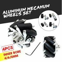 4x Turbowing Drive Wheel Robot Kit Omnidirectional 60mm RC Car Mecanum  Q