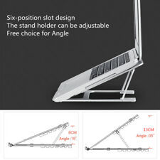 """AU Aluminum Adjustable Laptop Desk Stand Holder For 13-17"""" inch Tablet Notebook"""