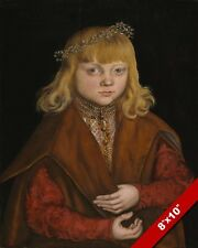 THE YOUNG PRINCE OF SAXONY 16TH CENTURY GERMAN PAINTING ART REAL CANVAS PRINT