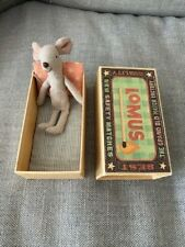 Maileg - Rare Lomus Mouse Bedding Matchbox Bed Super-Cute!