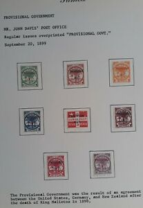 RARE 1899- Samoa lot of 8  postage stamps w Provisional Govt surch Mint