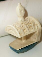 Antique c 1830 Hand carved Sewing Clamp Frame For Pin Cushion.