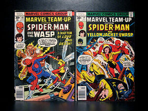 COMICS: Marvel Team-up #59-60 (1977), Spider-Man/Yellow Jacket/Wasp - RARE
