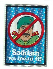 Saddam Hussein Vintage 80's Sticker / Decal Rare