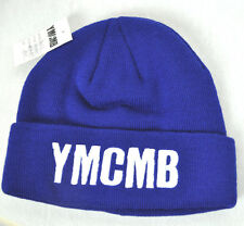 NEW YMCMB YOUNG MONEY men/women casual fashion BEANIE hat BLUE/WHITE *ONE SIZE