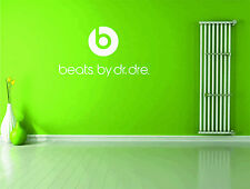 Dr Dre Beats Logo Headphones Music Wall Sticker Vinyl Decal Wall Art Transfer