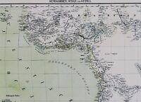Alte Landkarte 1882 Ägypten Sudan Nordöstliches Afrika und Arabien B13