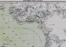 Vera vecchia cartina Africa Gold Coast Guinea Nigeria Mali Timbuktu Sudan 1859