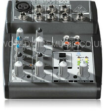 BEHRINGER XENYX 502 Premium 5-Input 2-Bus Mixer XENYX Mic Preamp and British EQ