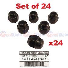 Nissan Patrol GQ GU Y60 Y61 Black Wheel Nut Set Genuine SET OF 24