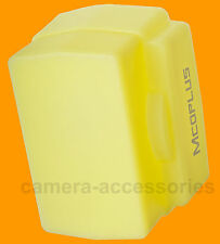 Yellow Warm Silicone Light Bounce Dome Diffuser Universal for most flash guns