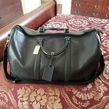 AUTHENTIC COACH Carry-On Unisex Luggage Bag Black Leather