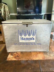 Vintage Hamm's Aluminum Beer Cooler 21*21.5*15 Theo Hamm Brewing