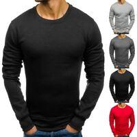 Winter Men Long Sleeve Hoodie Warm Jumper Sweatshirt Coat Sweater Outwear Jacket