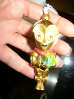 Small Hallmark Star Wars C3PO With Present Robot Christmas Ornament