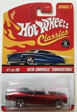 Hot Wheels CLASSICS 1970 CHEVELLE CONVERTIBLE * Red * Fast Shipping * 12A
