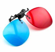 3D Brille Clip-On rot/blau (3D-Anaglyphenbrille) für Brillenträger PC Filme