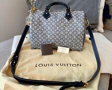 Louis Vuitton Speedy Bandouliere 30 Blue Idylle Handbag BRAND NEW