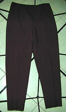 MARGARET M. Sz 10 BROWN CROPPED/CAPRI SLIMMING STRETCH PANTS VERY SLIMMING!