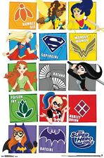 DC SUPERHERO GIRLS - CHARACTER GRID POSTER - 22x34 COMICS 14076