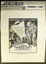 FORBIDDEN PLANET 1954 ORIGINAL MOVIE PRESS BOOK