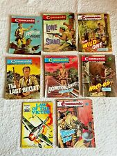 More details for 8 very early classic commando comics