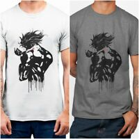 Shadow Dio JoJo's Bizarre Adventure Anime Men's Printed White Cotton T-shirt Top
