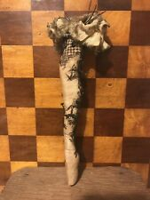 Large Vintage Antique Figural Pin Cushion Showgirl Can Can Lace Stocking Leg
