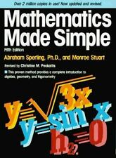 Mathematics Made Simple, Abraham Sperling, Monroe Stuart, Christine Peckaitis, 0
