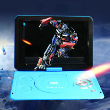 """Portable DVD Player 13.9"""" Swivel Screen Rechargeable Free Games MP3 TV USB SD"""