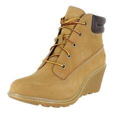 """Timberland Women Amston 6"""" Wedge Boots 8251A M Wheat Womens US size 9, UK 7"""