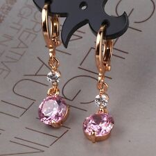 Pink sapphire desirable HOT 18k gold filled Wedding dangle earring