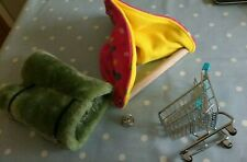 Parrot toys cosy perch, tunnel, trolley and bell.
