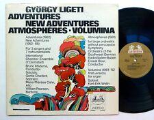 LIGETI Adventures AtmoChambespheres Volumina LP 1970 20th Cent Classical Cla 228