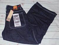 Monkee Genes Wide Leg 'Skate' Dark Wash Organic Cotton Jeans Size 32 NEW BNWT