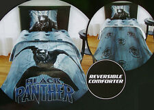 BLACK PANTHER BY MARVEL BLUE TWIN COMFORTER SHEETS SHAM 5PC BEDDING SET NEW