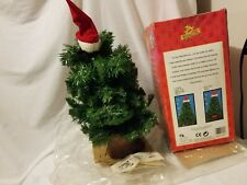 """Gemmy 16"""" Dancing Douglas Fir Talking Singing Christmas Tree BOX SOLD FOR PARTS"""