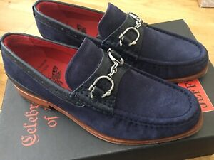 NEW Jeffery West Handcuff Suede Loafer Shoes Navy UK8 FREEPOST £285 BARGAIN!!!